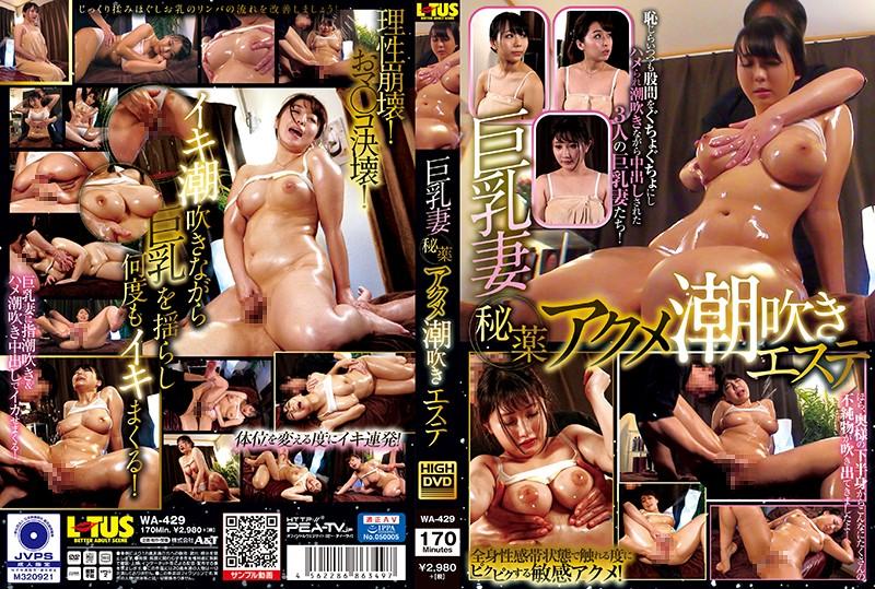  WA-429  Big Tits Wife Secret Cocktail Orgasm Squirting Massage Parlor Kanna Shinozaki Ruka Inaba Tsugumi Morimoto married big tits creampie squirting